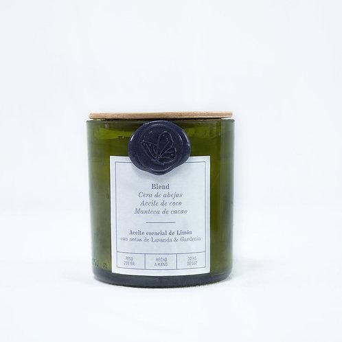 Limón Lavanda & Gardenia - Mediana -  Pabilo de hilo de algodón