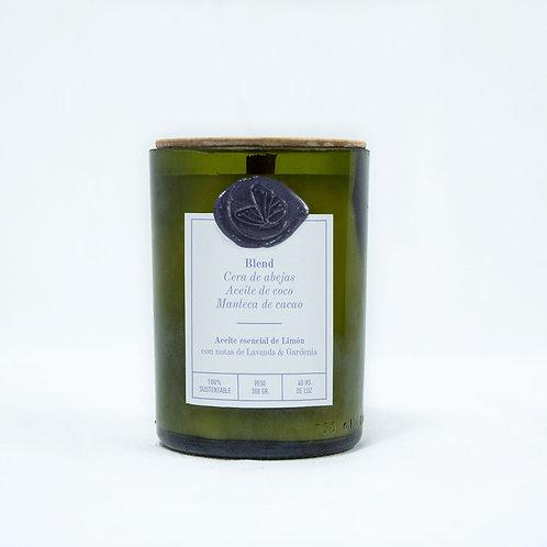 Limón Lavanda & Gardenia - Grande - Pabilo de madera