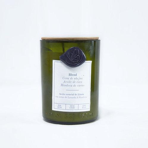 Limón Lavanda & Gardenia - Grande - Pabilo de hilado de algodón