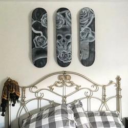 Board Sport Themed Airbrush On Skateboard