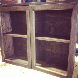 Walnut Stained Pine Bar Cabinet