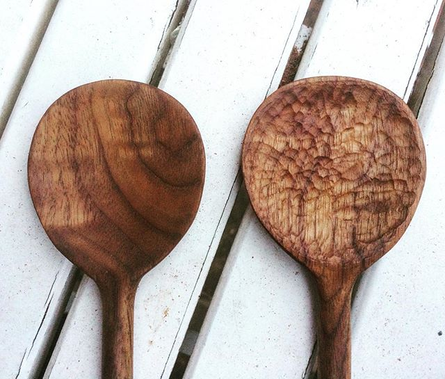 Hand Carved Walnut Spoons