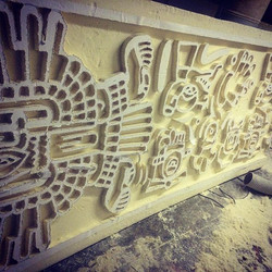 Aztec Style Wall Panel