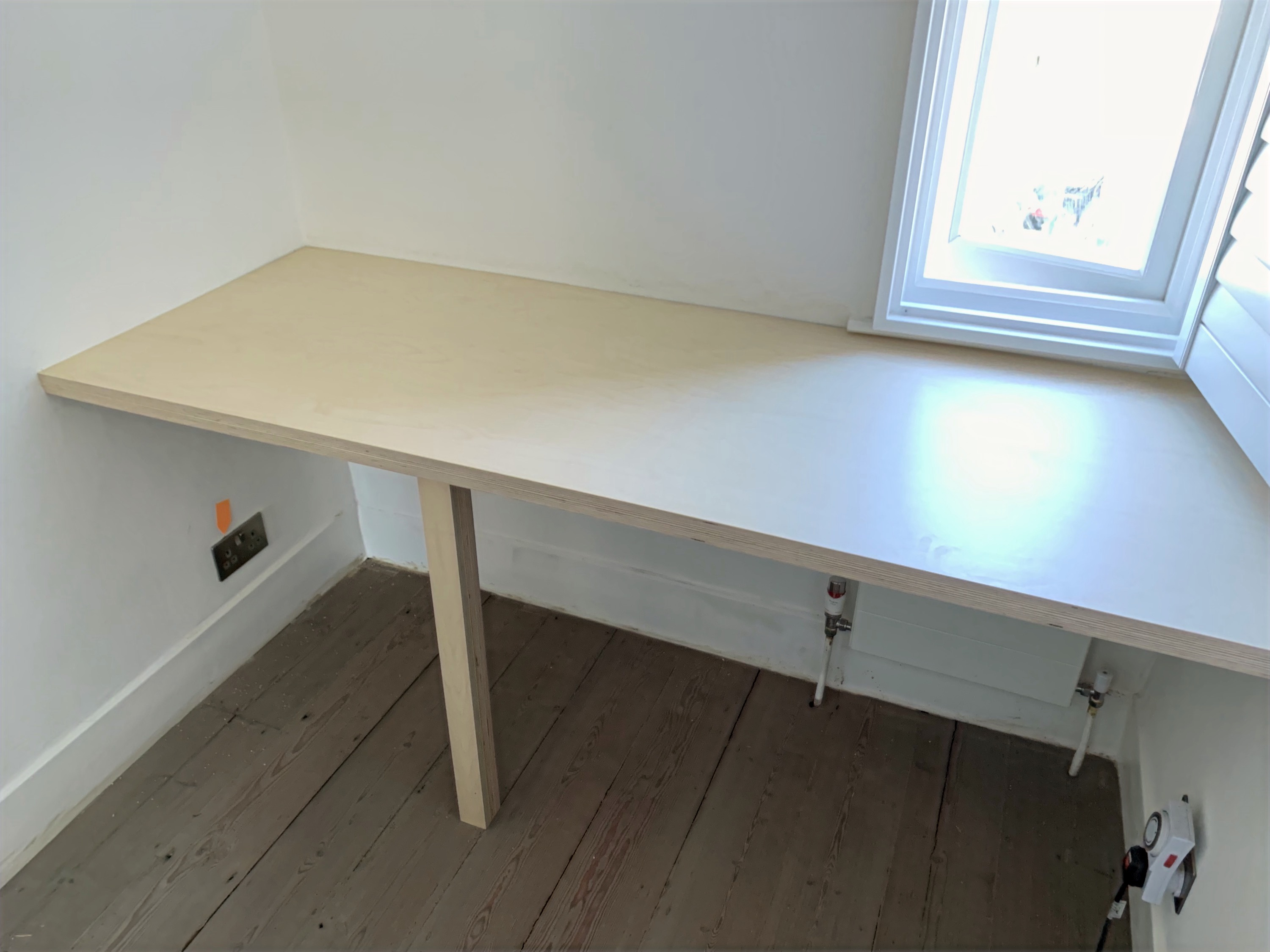 Birch Plywood Desk