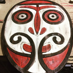 Hand carved Papua New Guinea style tribal mask