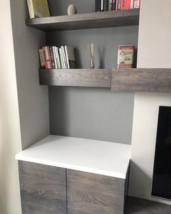 Custom Oak Living room
