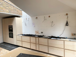 Plywood and Oak Kitchen