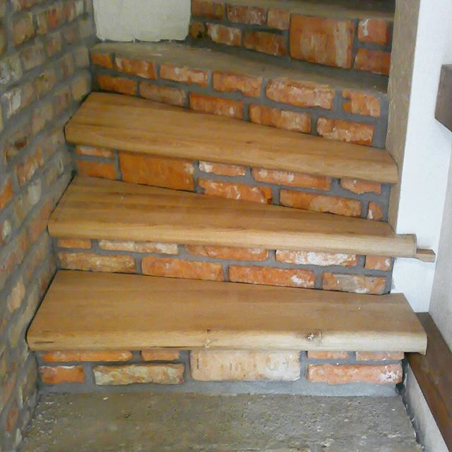 Exposed Brick And Oak Steps