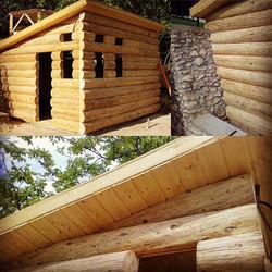 Reclaimed Pine Beam Pool House/Sauna