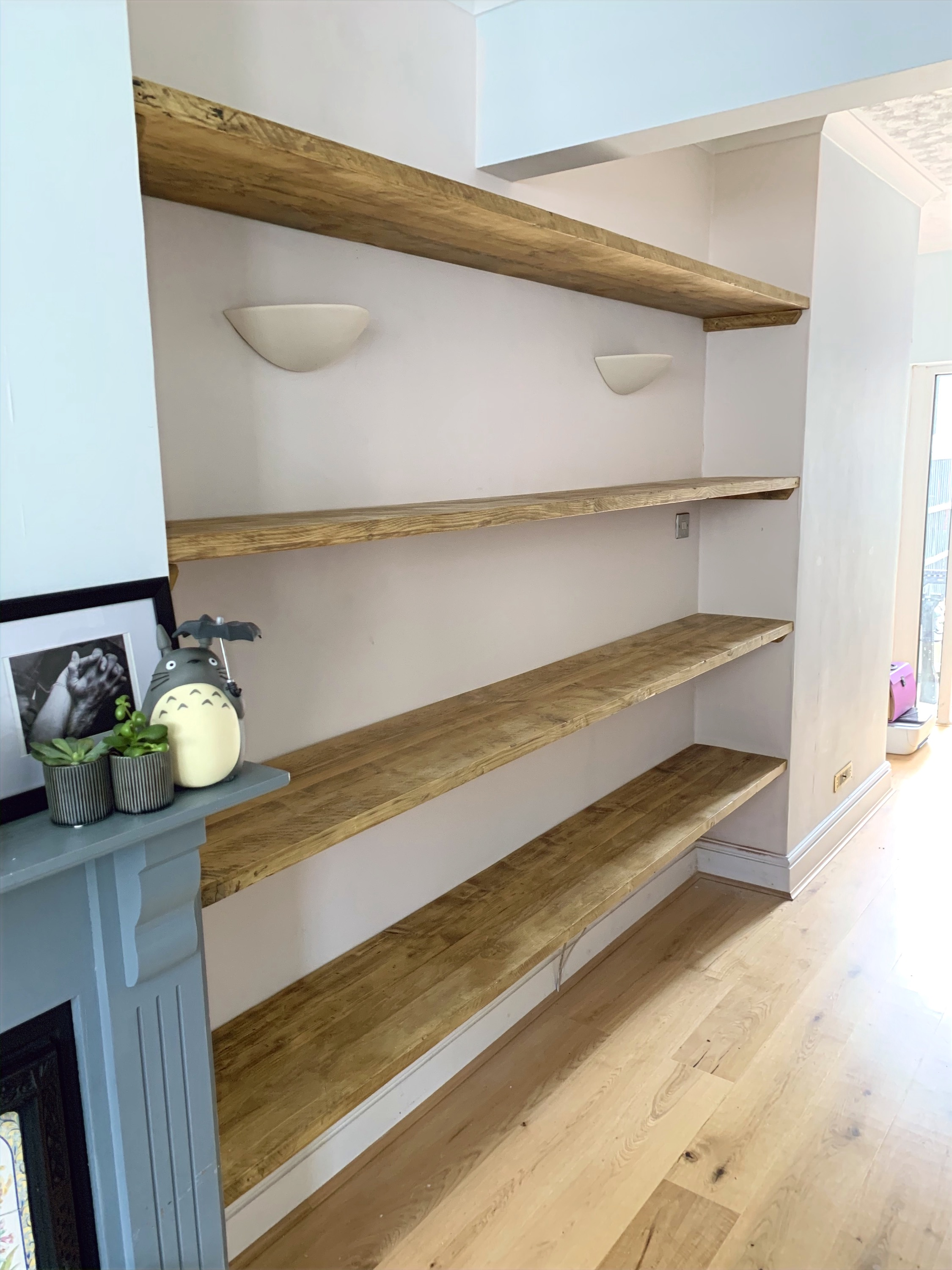 Reclaimed Scaffolding Shelf