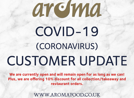 Customer update – COVID-19