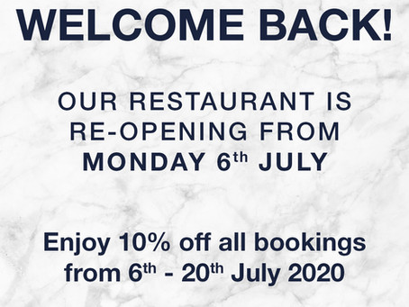 Our restaurant is back!