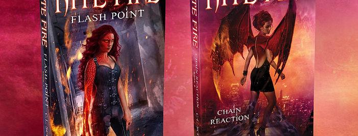 Fantasy cover art for the urban fantasy series Nite Fire