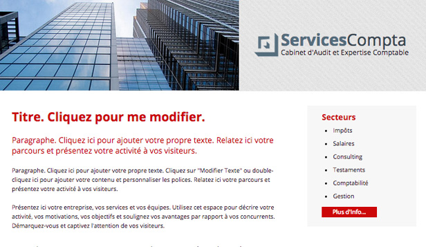 Droit et Finance website templates – Expertise Comptable