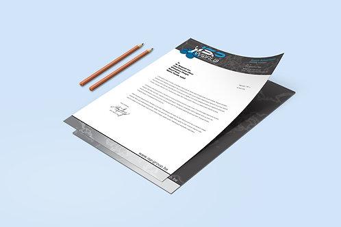 Briefpapier met ISP logo