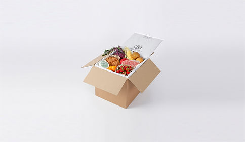 insulated wool box liner for sending chilled food