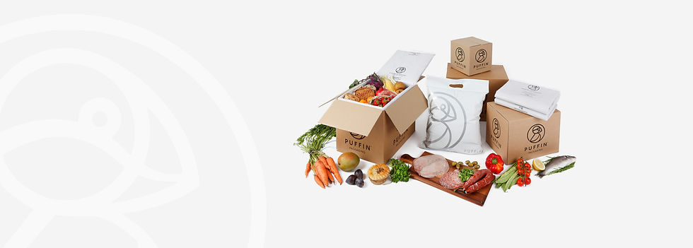 puffin insulated wool packaging for sending food