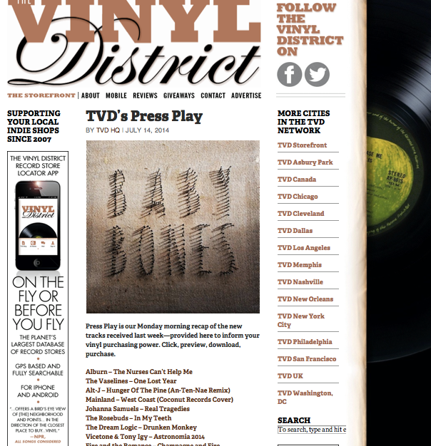 The Dream Logic Featured in Vinyl District