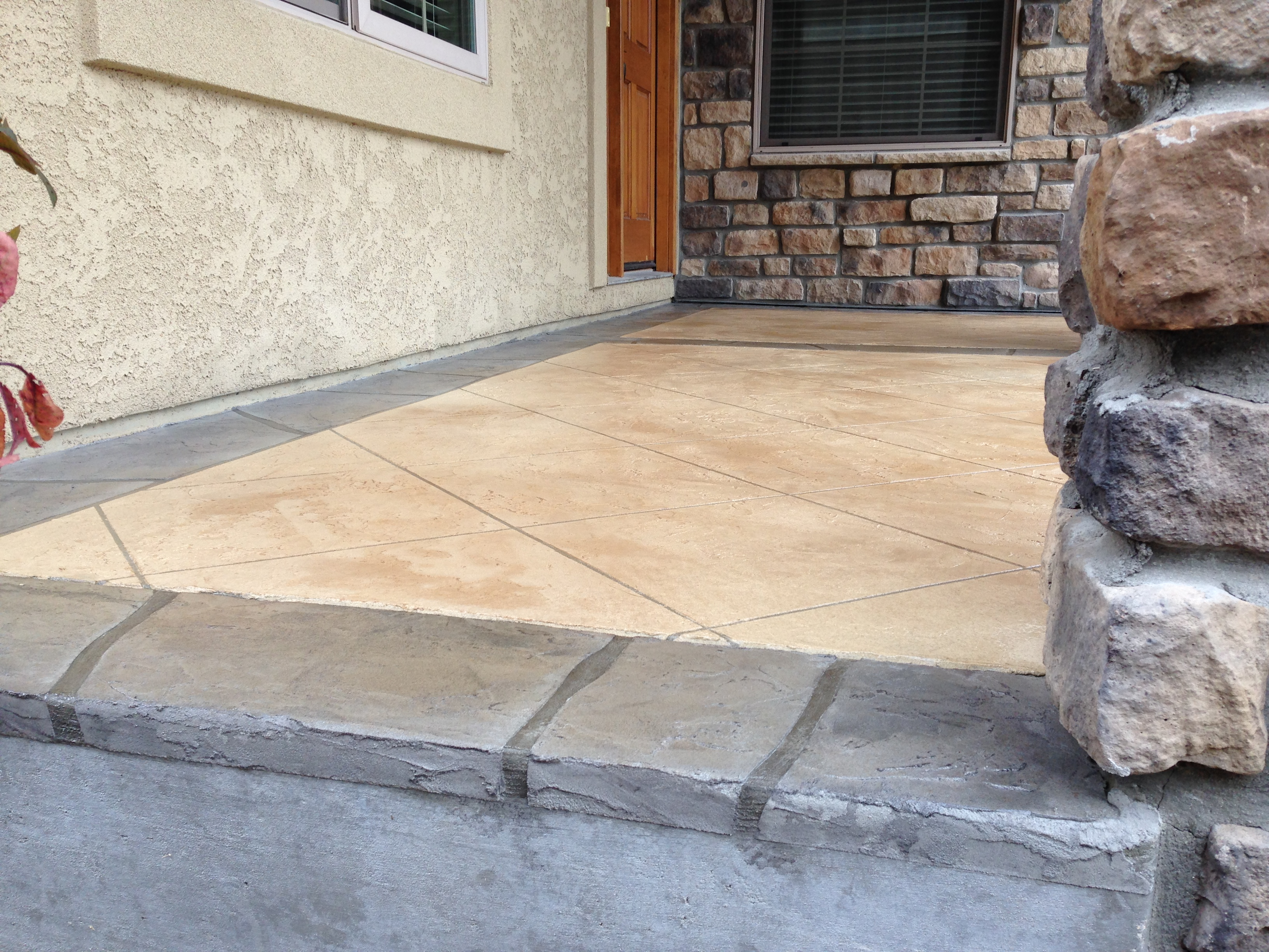 decorative concrete coating overlay