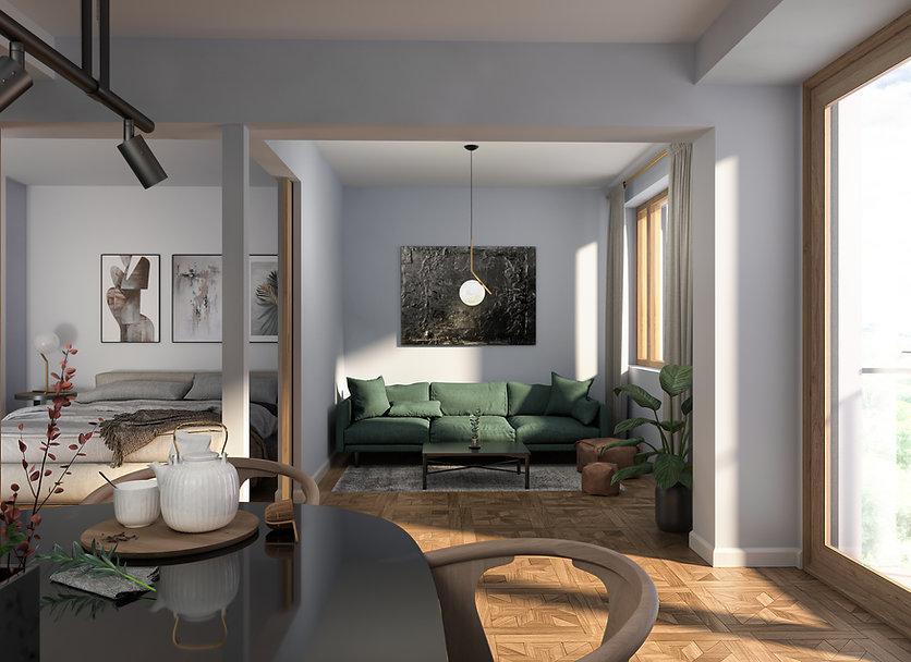 Kaksio, asunto, lahden sinfonia, visualisointi, havainnekuva