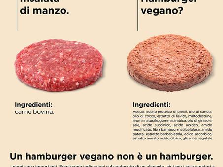 Hamburger (di carne) vs Hamburger (senza carne): non solo una questione semantica