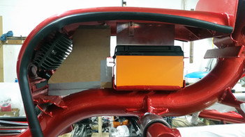 Test Fitment of Battery and ECU