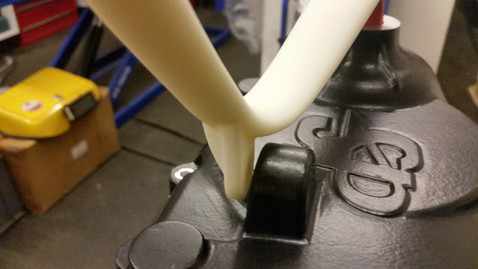 Initial development of a electronic push start lever using 3D printed parts to test the design prior to manufacturing.