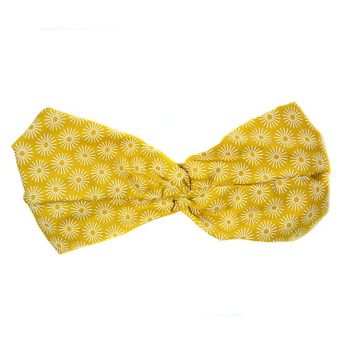 Turban Solar, jaune moutarde
