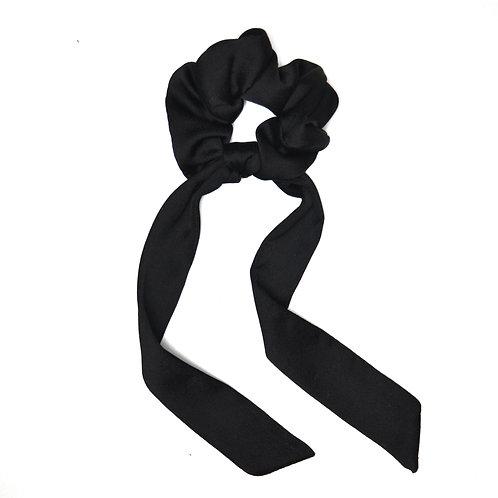 Chouchou ruban satin noir