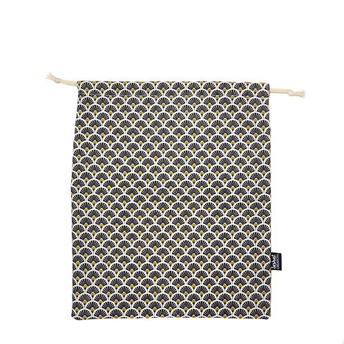 Pochon en coton taille M, modèle Éventail