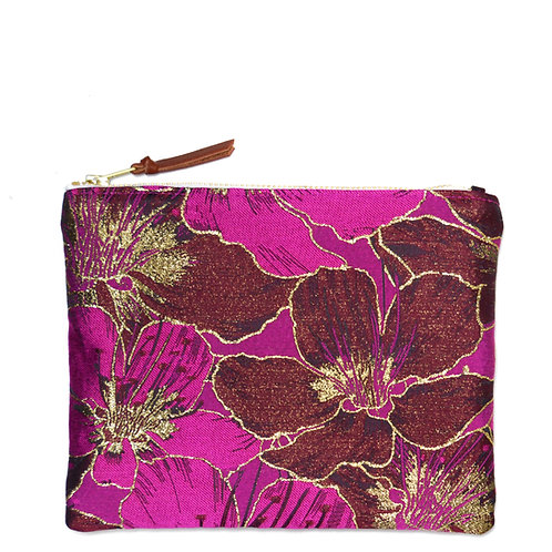 Petite pochette Hibiscus