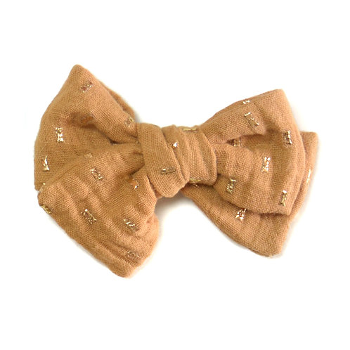 Barrette noeud Galaxie Camel