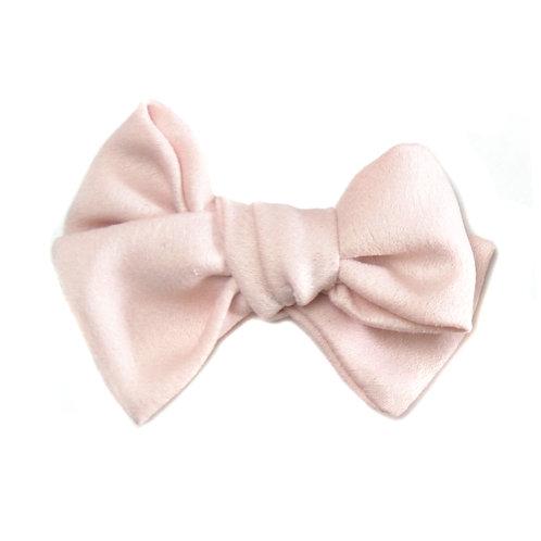 Barrette noeud Satin rose pâle
