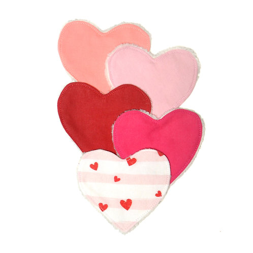 Lingettes lavables pack Valentine
