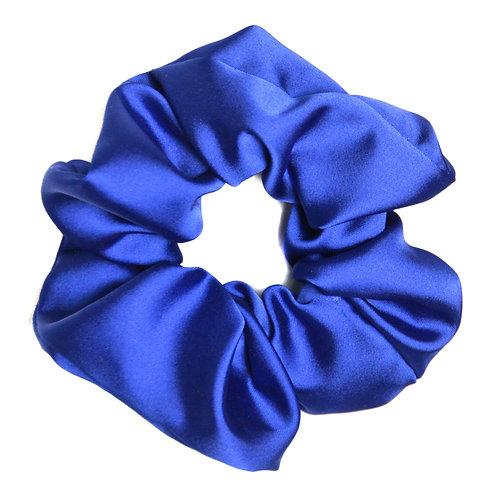 Chouchou Satin, bleu électrique