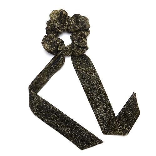 Chouchou ruban Shine, noir