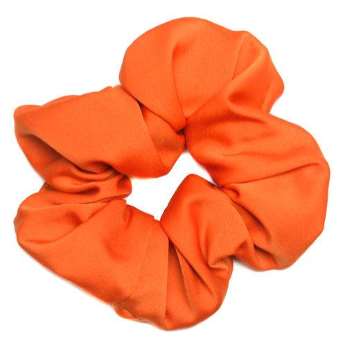 Chouchou satin orange