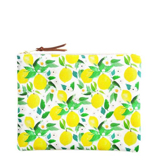 Petite pochette Lemon, blanche