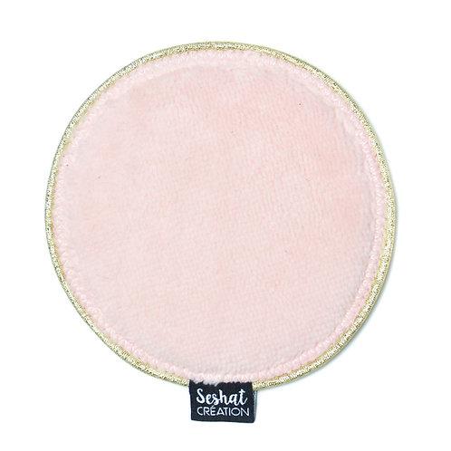 Grande lingette lavable ronde double face, rose, à l'unité