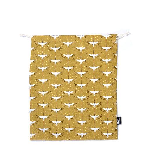 Pochon en coton taille M, modèle Birds