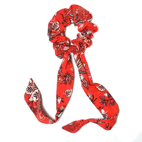 Chouchou ruban Savana, rouge