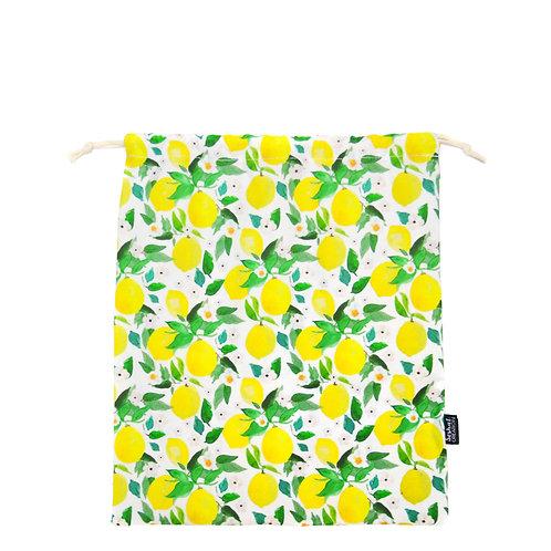 Pochon en coton taille M, modèle Lemon