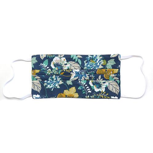 Masque de protection en tissu, réutilisable, modèle Flower
