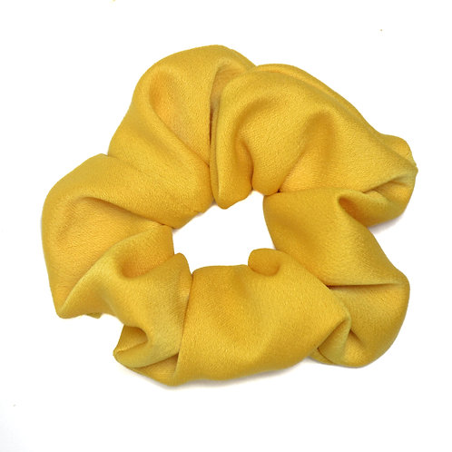 Chouchou Satin jaune bouton d'or