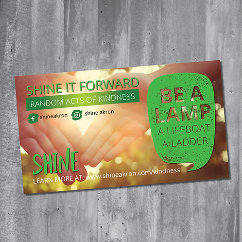 SHINE it Forward Cards