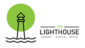 Lighthouse logo white background horizon