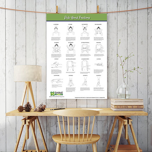 Reiki Hand Positions Poster