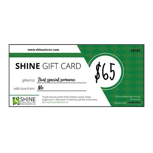 SHINE Gift Certificate