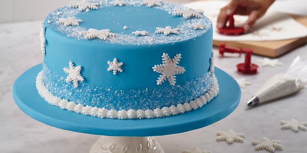 Fondant Winter Cake