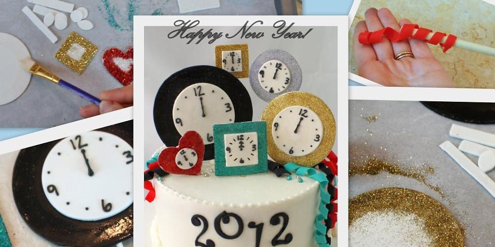 Fondant New Years Cake